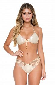 Плавки Luli Fama Strappy Brazilian Ruched Back Bottom