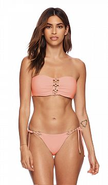 Лиф Beach Bunny Ireland Bandeau Tie Back Whiskey Rose