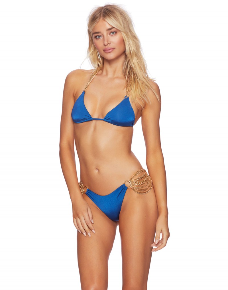 37948cdf735df Купальник с цепочками Beach Bunny Ball and Chain Triangle Top & Skimpy  Bottom Blue - MixBikini ...