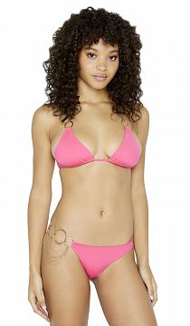 Купальник Beach Bunny Zara Triangle Top & Asymmetrical Skimpy Bottom Pink