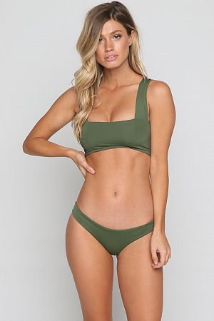 Купальник L'SPACE Parker Top & Whiplash Bottom in Jungle - MixBikini