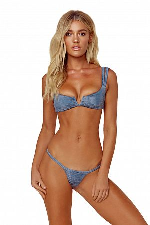 Купальник Blue Life Scrunched Up Top & Cheeky Bottom - MixBikini