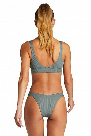 Плавки Vitamin A California High Leg Sea Green EcoRib - MixBikini