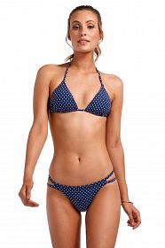 Лиф Vitamin A Gia Reversible Triangle Top Rumba Dots Blue